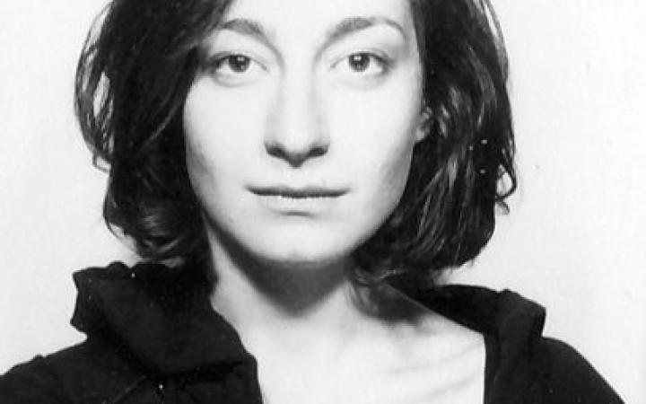 Black and white portrait of Snezhana Vinogradova.