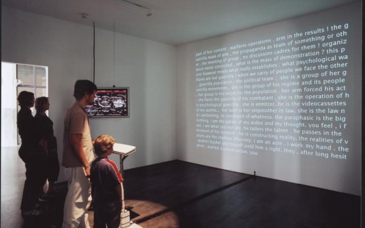"""Installationsansicht """"David Link: Poetry Machine"""""""
