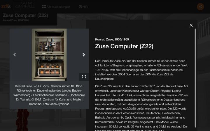 Das ZKM in der Digitalen Kunsthalle des ZDF