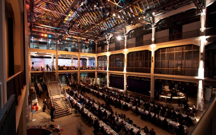 A banquet at the ZKM_Foyer