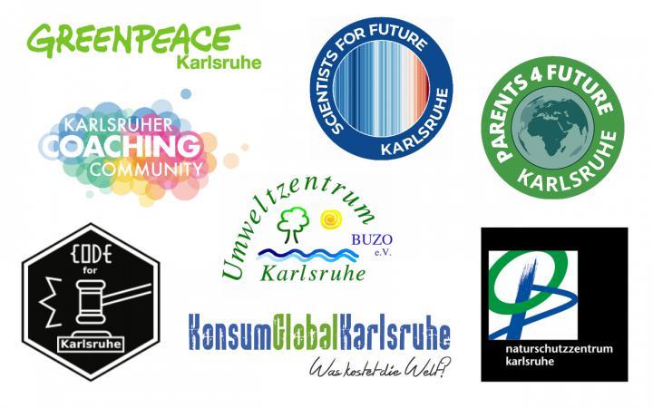 Die Logos der Initiativen, die an der ZKM-Ausstellung »Critical Zones« mitwirken.