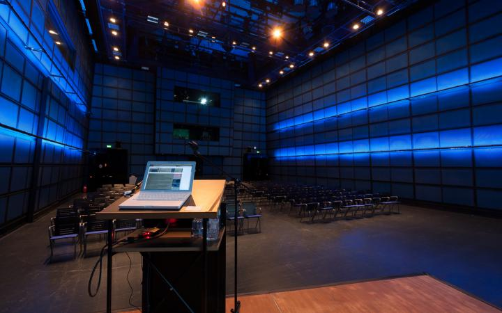 The ZKM_Media Theater; view from stage