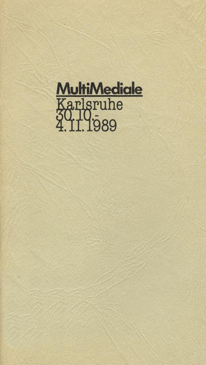 Cover of the publication »MultiMediale«