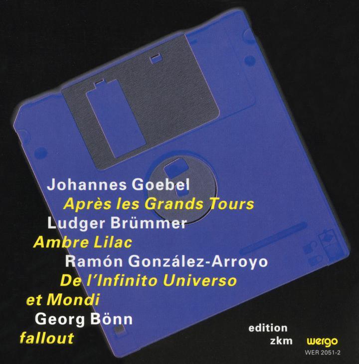 Cover der Publikation »Après les Grands Tours / Ambre, Lilac / De l'infinito Universo et Mondi / fallout«