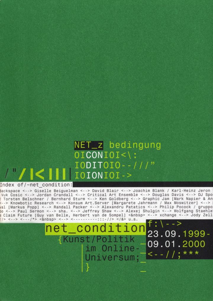 Cover of the publication »Net_Condition. Kunst / Politik im Online-Universum«
