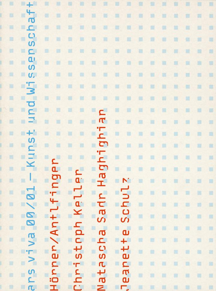 Cover der Publikation »Ars Viva 00/01. Kunst und Wissenschaft«