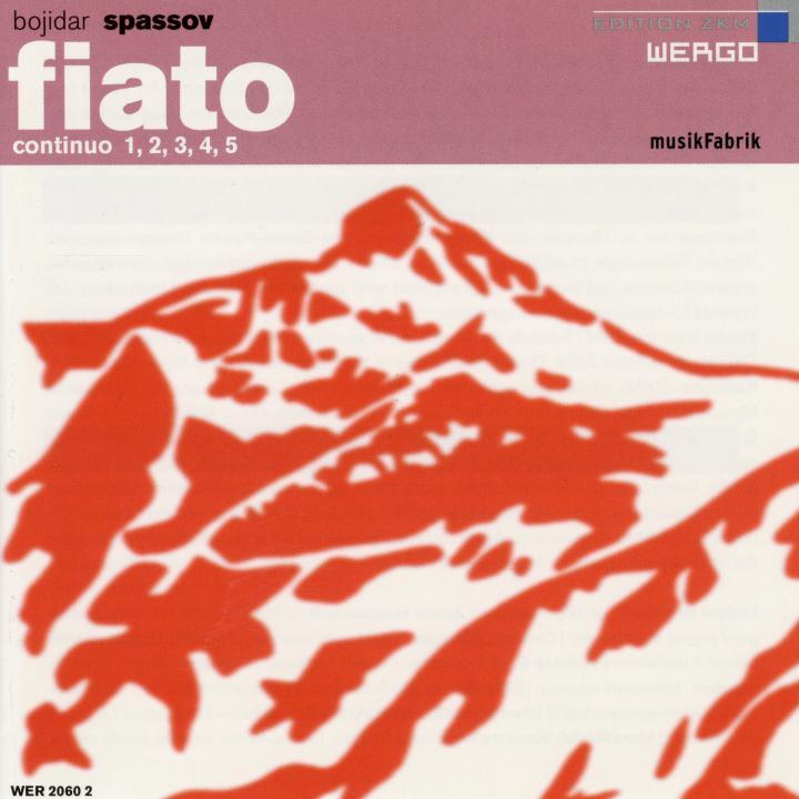 Cover of the publication »Fiato Continuo 1, 2, 3, 4, 5«
