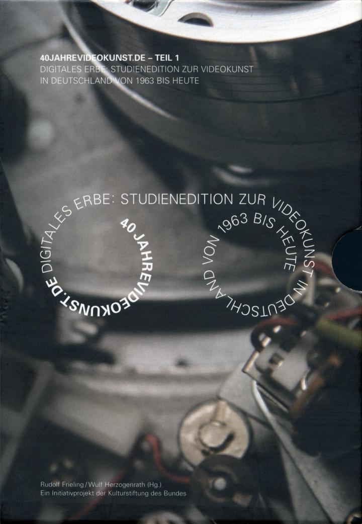 Cover der Publikation »40jahrevideokunst.de – Teil 1 / 40yearsvideoart.de – Part 1«