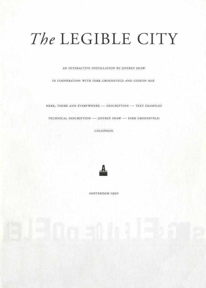 Cover der Publikation »Jeffrey Shaw: The Legible City«