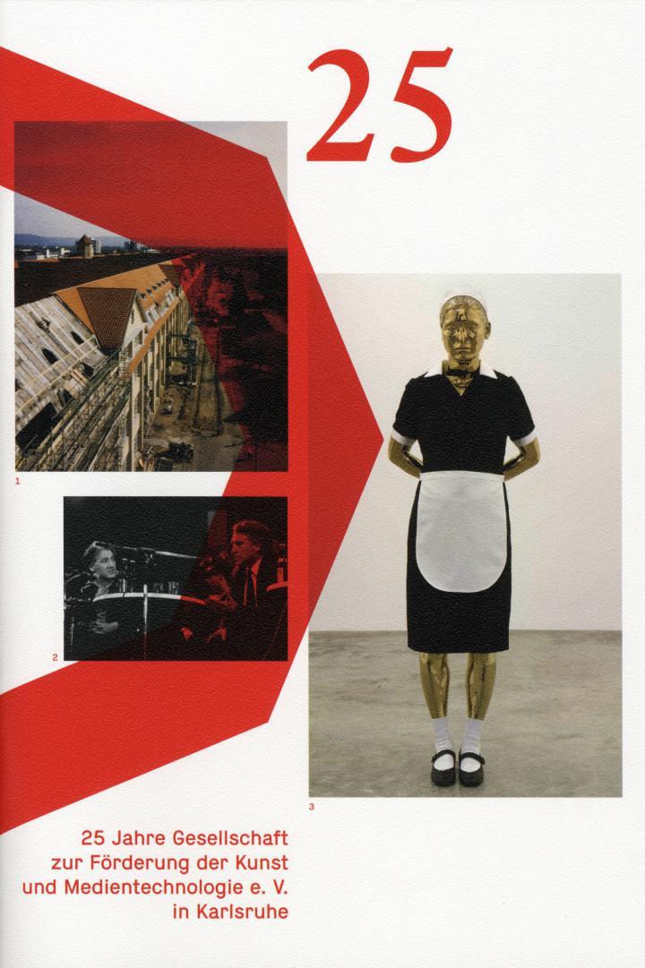 Cover of the publication »25 Jahre Gesellschaft zur Förderung der Kunst und Medientechnologie e. V. in Karlsruhe«