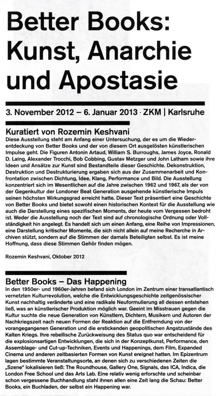 Cover der Publikation »Better Books: Kunst, Anarchie und Apostasie«