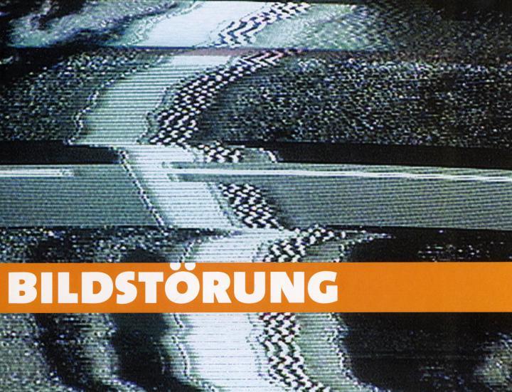 Cover der Publikation »Bildstörung. Videokunst der 90er und der Jahrhundertwende. Internationaler Medienkunstpreis 2002«