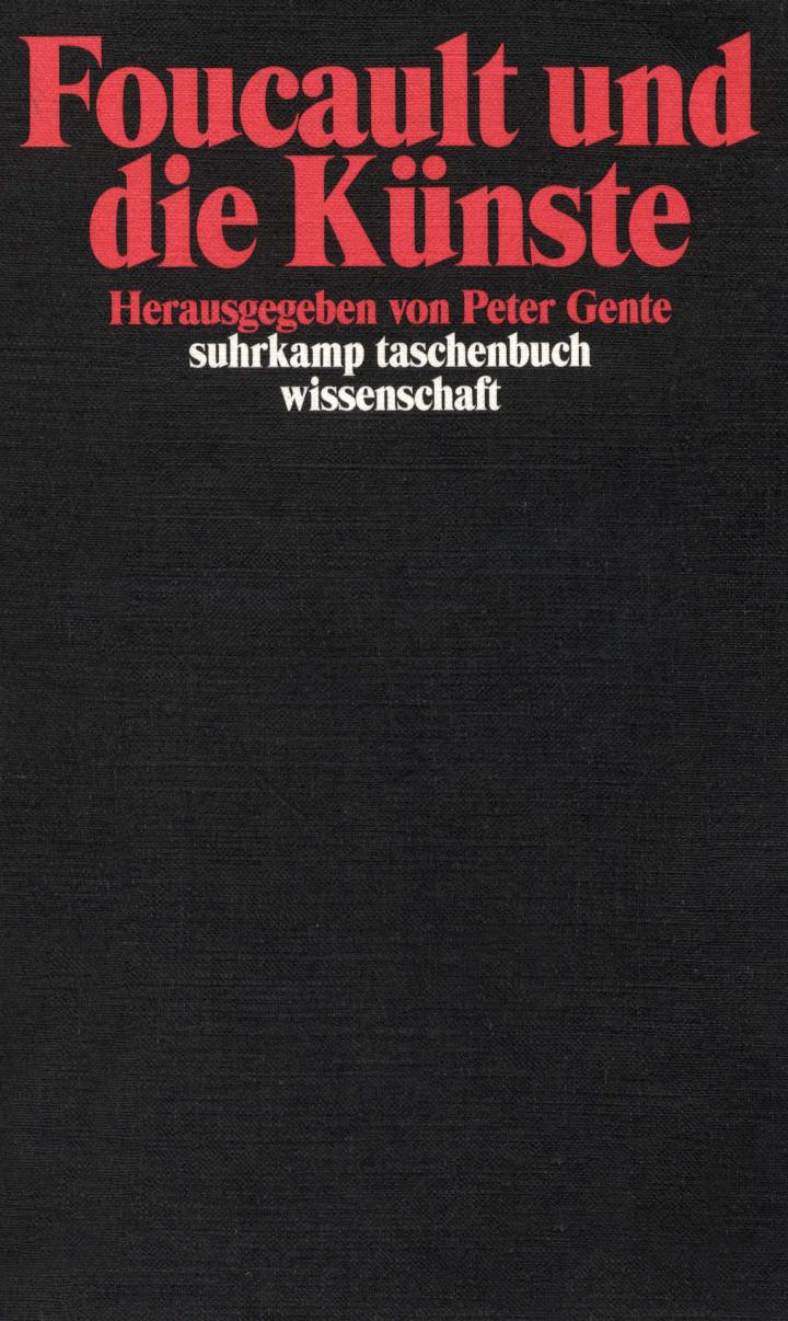 Cover of the publication »Foucault und die Künste«