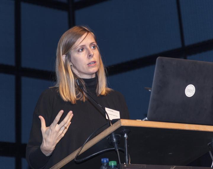 Daniela Fabricius, Princeton University, bei ihrem Vortrag im Rahmen des Frei Otto Symposiums.