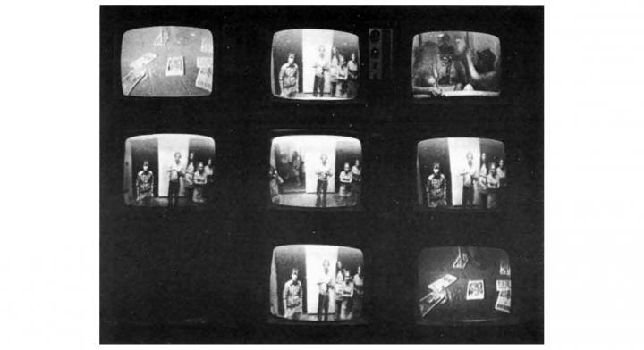 Frank Gillette, Ira Schneider, »Wipe Cycle«, 1969, installation view, Howard Wise Gallery, ZKM   Karlsruhe, 2017