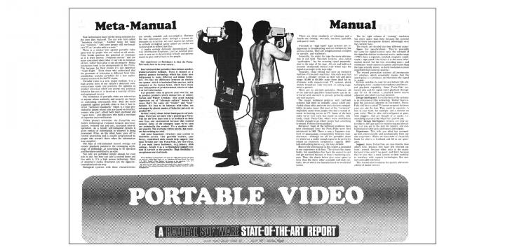 """""""Portable Video. A Radical Software State-of-the-Art Report"""", in: »Radical Software«, Vol. 1, Nr. 3, 1971"""