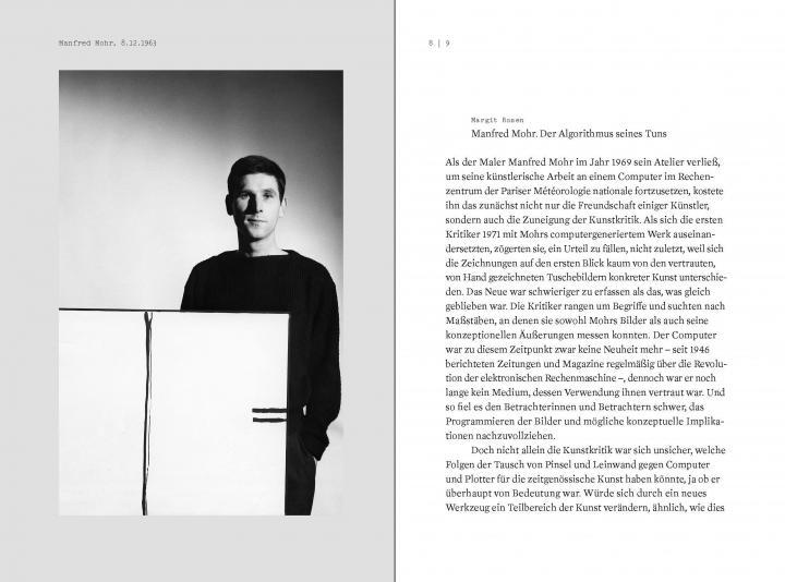 Sample pages from the publication  »Der Algorithmus des Manfred Mohr«
