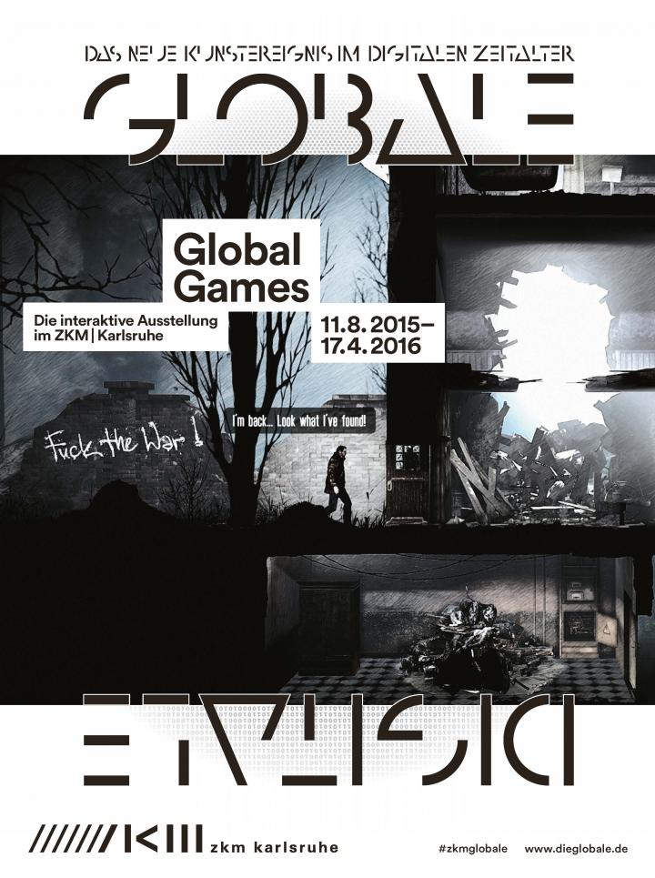 Leaflet of the exhibition »Global Games«