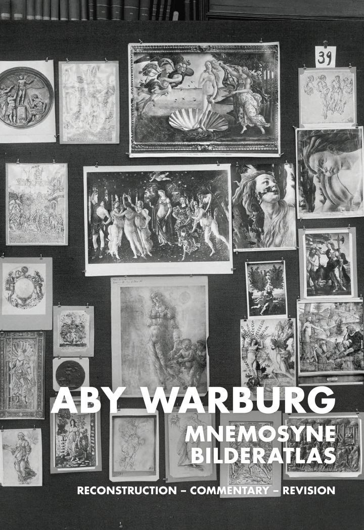 Cover der Publikation »Aby Warburg. Mnemosyne Atlas«: Schwarzweißfoto einer der Bildtafeln