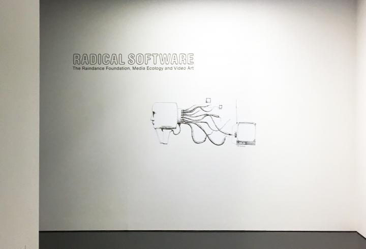 View of the exhibition »Radical Software«: Exit