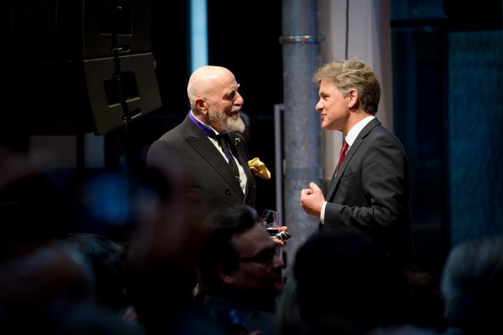 Markus Lüpertz und Frank Mentrup bei der Eröffnung