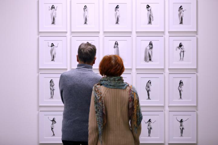 Blick in die Ausstellung »FEMINISTISCHE AVANTGARDE der 1970er-Jahre«