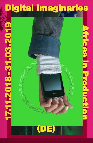 Cover der Ausstellungsbroschüre »Digital Imaginaries - Africas in Production«, 2018/19