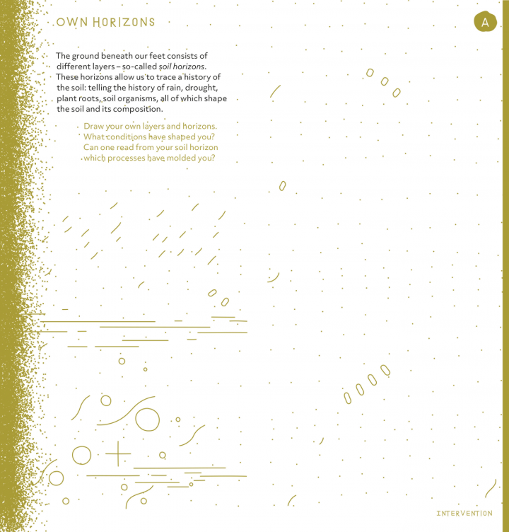 Page view of the Critical Zones exhibition brochure