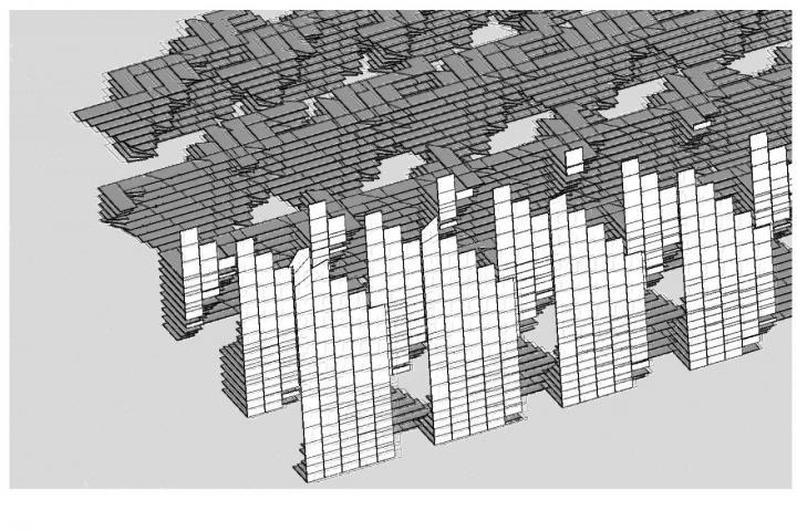 Grafische Darstellung von generierten grauen und weißen Flächen