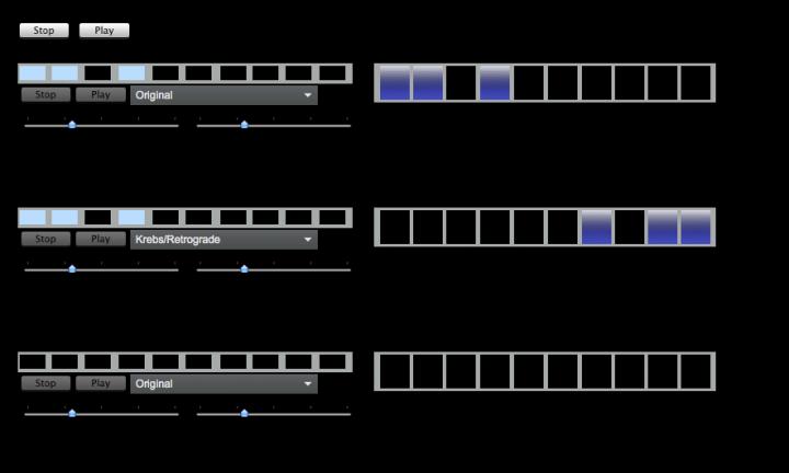 Graphical representation of a rhythm machine