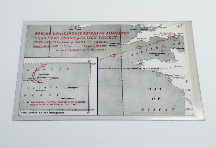 Werk - Karte No. 1 für das Projekt zur Verlegung von Landmassen