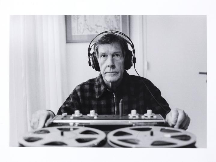 John Cage in Paris at the home of Dorothea Tanning
