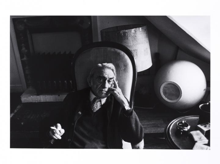 Pierre Schaeffer at home in Paris