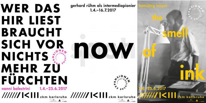 Exhibition postersNanni Balestrini, gerhard rühm und Hansjörg Mayer