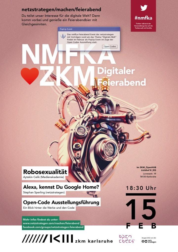 Poster for the Meet Up »Netzwerkstrategen machen Feierabend«