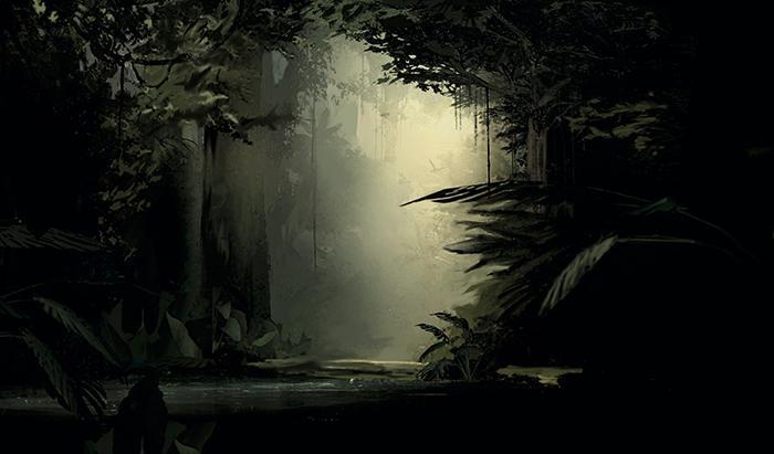 Das Bild zeigt einen Urwald, durch den sich ein Fluss schlängelt