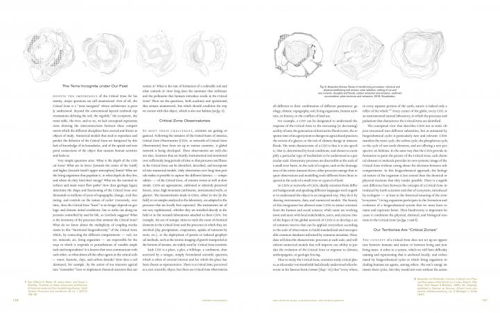 """Side view of the publication """"Critical Zones"""""""