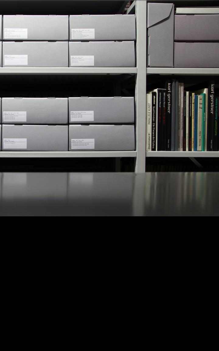 Blick in das Archiv des ZKM | Zentrum für Kunst und Medien Karlsruhe